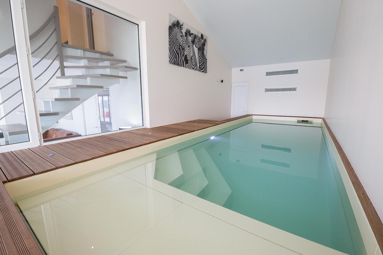 vacances avec piscine couverte chauffee Piscine intérieure privée